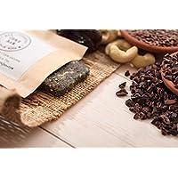 Cure Bar - Raw Cacao, Organic Spirulina, Flax - Raw Superfood Energy Bar, Pack of 6 bars.