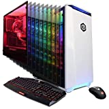 CYBERPOWERPC Gamer Panzer PVX4020LQ Gaming PC (Liquid Cooled Intel i9-7900X 3.3GHz, 32GB DDR4, NVIDIA GeForce RTX 2080 8GB, 480GB SSD, 2TB HDD, 802.11AC WiFi & Win 10 Home) White (Color: White)