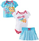 Disney Baby Baby-Girls Newborn Nemo 3 Piece Skirt Set