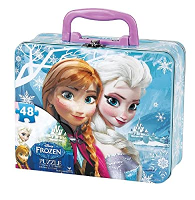 Disney Frozen Puzzle in Tin with Handle (48-Piece) by Disney