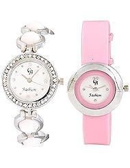 CB Fashion Combo Of Analog Multicolour Dial Women's Watch (RW150)