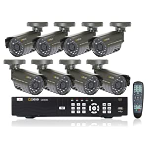 Digital Peripheral Solutions Q-See 8 Channel H.264 DVR with 8 Indoor/Outdoor Cameras and 500GB Hard Drive - Model No. QS408-811-5