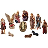"36"" Large 12-Piece Outdoor Nativity Christmas Yard Art Stable and Statue Set"
