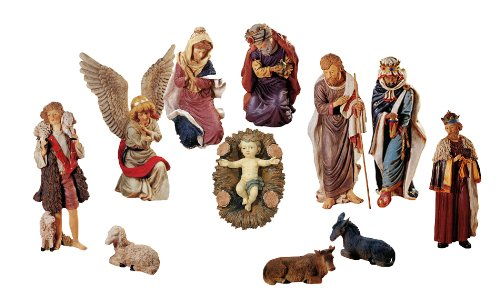 50 large 11 piece outdoor religious nativity christmas yard art statue set - Religious Christmas Yard Decorations
