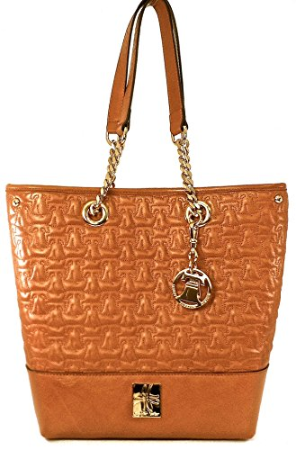 Sylvia Noster Women'Sadams Quilted Liberty Bells With Constitution Print Lining Saddle Leather Tote