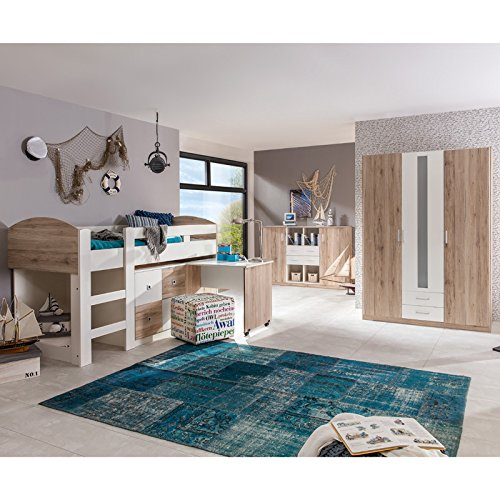 komplett kinderzimmer set sanremo eiche jugendzimmer. Black Bedroom Furniture Sets. Home Design Ideas