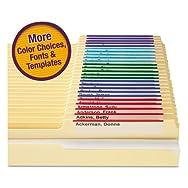 Viewables Color Labeling System, Top Tab Folder, 3 1/2 x 1 1/4, White, 160/Kit