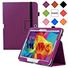WAWO Samsung Galaxy Tab 4 10.1 Inch Tablet Smart Cover Creative Folio Case - Purple