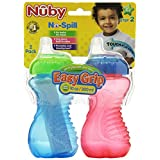 Nuby 2 Pack No Spill Cup, 10 Ounce, Colors May Vary ~ Nuby