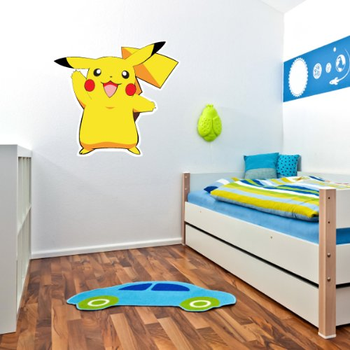 cheap pikachu pokemon wall decal wall decor 25 x 27 pokemon wall stickers. Black Bedroom Furniture Sets. Home Design Ideas