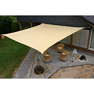 Idirectmart Square Sun Shade Sail 18 Feet - Sand Color by Shade Sails