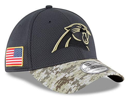 Men's New Era NFL Carolina Panthers 16 Salute To Service Sideline Hat Camo Size Medium/Large (Salute To Service Panthers compare prices)