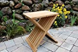 Paradise Teak Wood Folding Shower Seat, Bench, Stool - Bath, Sauna Seating
