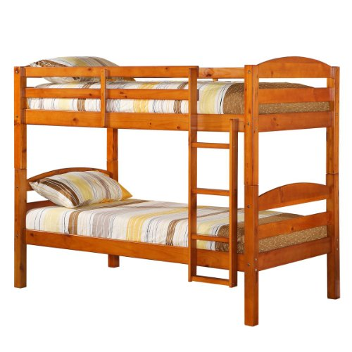 Convertible Twin Twin Solid Wood Bunk Bed Or 2 Single Twin