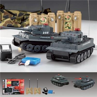 2 Tiger Infra-Red Laser RC Battle Tank Set lazer tag r/c game