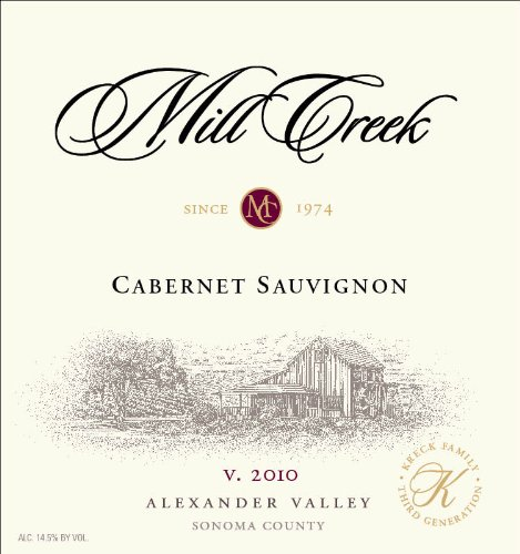 2010 Mill Creek Vineyard & Winery Cabernet Sauvignon 750 Ml