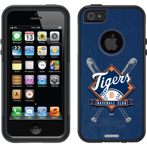 Great Price Detroit Tigers - Bats design on a Black OtterBox® Commuter Series® Case for iPhone 5s / 5