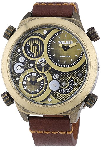 Welder Unisex-Armbanduhr Analog Quarz Leder K50 400