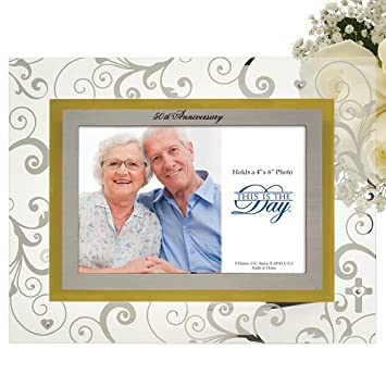 Enesco This Is the Day by Gregg Gift for Enesco Photo Frame, 50th Anniversary