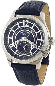 Stuhrling Original Men's 247.3315C6 Classic 'Baily' Automatic Retrograde Rubber Strap Watch
