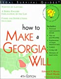 How to Make a Georgia Will, 4th Edition