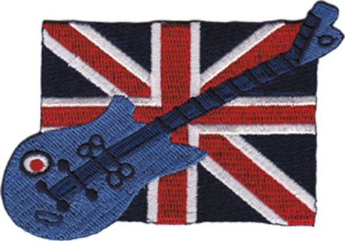 Application Brit Flag and Guitar Patch - 1