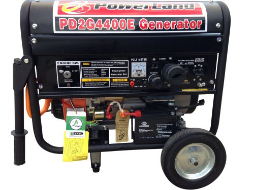 Powrland PD2G4400E Dual Fuel Gas and LPG Generator, 4400-watt
