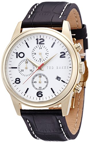 Ted Baker Round Dial Leather - Black Men's watch #TE1123
