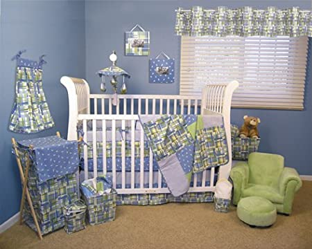 Plaid Crib Bedding