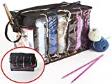 Zuitcase Knitting Bag Organizer, Crochet Tote Bag for Yarn Storage