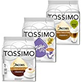 Tassimo Cápsulas de Café Cream Collection, Café con Leche, Chocolate, 3 Variedades, 48 T-Discs (24 tazas)