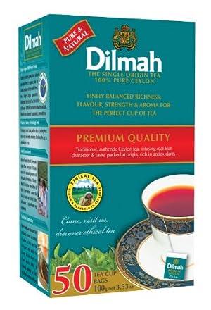 Dilmah Premium 100% Pure Ceylon Tea, 50-Count Tea Bags