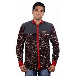 Aaduki Men's Casual Black Shirt-38