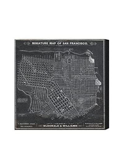 Oliver Gal San Francisco Map 1879 Canvas Art, Multi, 20 x 20
