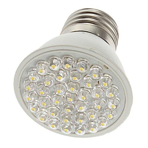 Sodial(R) 38 Led E27 Warm White Led Energy Saving Energy-Saving Light Bulb Lamp 1.9W 110V