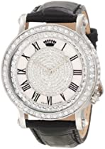 Hot Sale Juicy Couture Women's 1900991 Queen Couture Black Leather Strap Watch