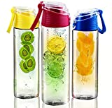 STRONG Sport Tritan Fruit Infuser (24 oz) BPA Free - chic on-the-go carry handle (blue)