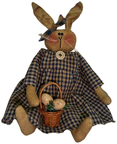 Craft Outlet Periwinkle Bunny Rabbit Figurine, 13-Inch