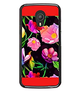 Flowers Pattern 2D Hard Polycarbonate Designer Back Case Cover for Meizu M2 Note :: Meizu Blue Charm Note2