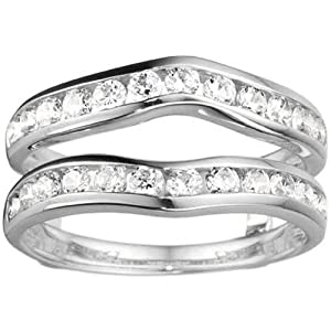 Ring Guard Enhancer set in 10k White Gold (0.98 CT. Cubic Zirconia)
