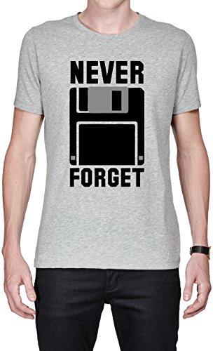 Silicon Valley Tv Never Forget Floppy Funny maglietta da uomo X-Large