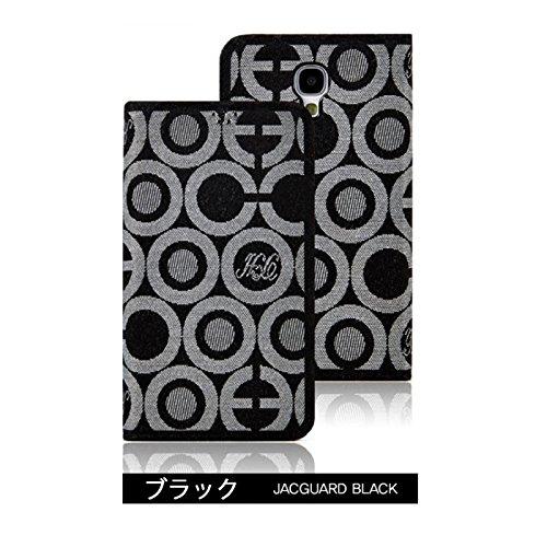 Flip Cover ジャガード レザー ケースdocomo GALAXY S4 SC-04E/ギャラクシーs4 応対フリップ タイプ 手帳型 手帳 レザー ケース カバー カード入れ付きブラック