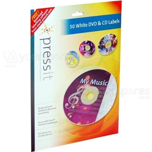 CD Label PressIt weiß 50 pezzo