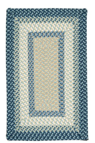 Montego Rug, 5 by 8-Feet, Blue Burst
