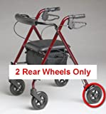 Replacement Set of 2 Rear Wheels for MDS86825SL Ultralight Rollator