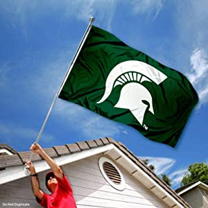 Buy Michigan State Spartans MSU Sparty University Large College Flag by College Flags and Banners Co.