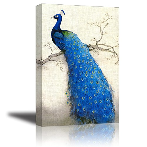 Peacock Oil Painting <br>Ready to Hang