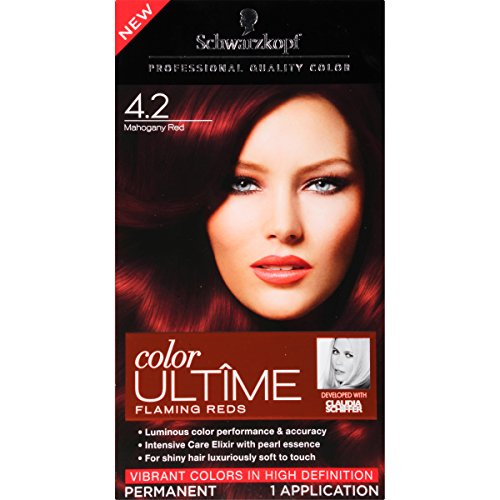 Schwarzkopf Ultime Hair Color Cream, 4.2 Mahogany Red, 2.03 Ounce (Red Mahogany Dye compare prices)