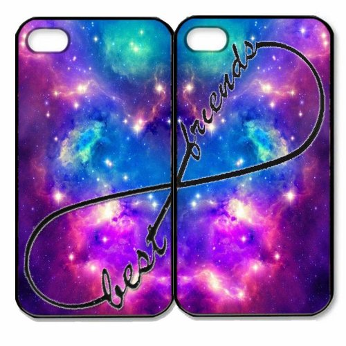 Wecc-Top Seller Nebula Forever Best Friends Plastic Set Slim Fitted Cover Case Of Two (2) The Apple Iphone 5/5S And One Gifts 1&17