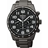 Seiko Gents Chronograph Black Ion Plated 100m Water Resistance Sports Watch
